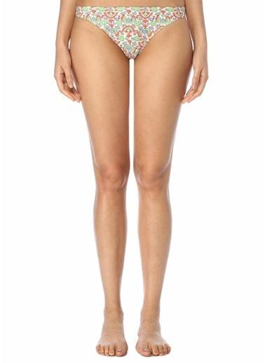 Tory Burch Tory Burch Colorblocked Çiçek Desenli Bikini Altı 101496408 Renkli
